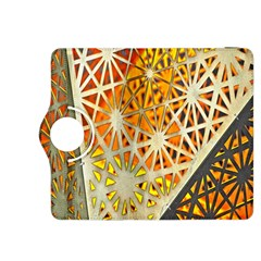 Abstract Starburst Background Wallpaper Of Metal Starburst Decoration With Orange And Yellow Back Kindle Fire HDX 8.9  Flip 360 Case