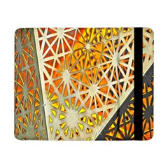 Abstract Starburst Background Wallpaper Of Metal Starburst Decoration With Orange And Yellow Back Samsung Galaxy Tab Pro 8.4  Flip Case
