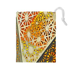 Abstract Starburst Background Wallpaper Of Metal Starburst Decoration With Orange And Yellow Back Drawstring Pouches (large)