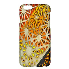 Abstract Starburst Background Wallpaper Of Metal Starburst Decoration With Orange And Yellow Back Apple Iphone 6 Plus/6s Plus Hardshell Case