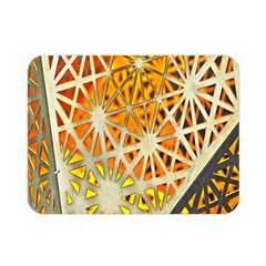 Abstract Starburst Background Wallpaper Of Metal Starburst Decoration With Orange And Yellow Back Double Sided Flano Blanket (mini)
