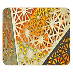 Abstract Starburst Background Wallpaper Of Metal Starburst Decoration With Orange And Yellow Back Double Sided Flano Blanket (small)
