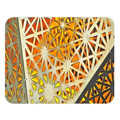Abstract Starburst Background Wallpaper Of Metal Starburst Decoration With Orange And Yellow Back Double Sided Flano Blanket (large)
