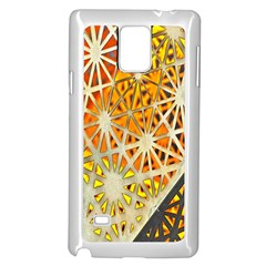 Abstract Starburst Background Wallpaper Of Metal Starburst Decoration With Orange And Yellow Back Samsung Galaxy Note 4 Case (white)