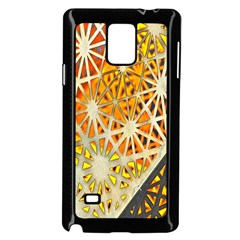 Abstract Starburst Background Wallpaper Of Metal Starburst Decoration With Orange And Yellow Back Samsung Galaxy Note 4 Case (Black)