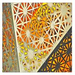 Abstract Starburst Background Wallpaper Of Metal Starburst Decoration With Orange And Yellow Back Large Satin Scarf (square)