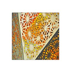 Abstract Starburst Background Wallpaper Of Metal Starburst Decoration With Orange And Yellow Back Satin Bandana Scarf