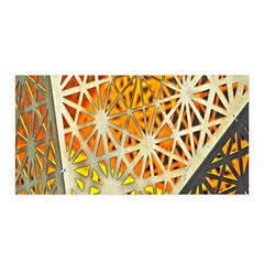 Abstract Starburst Background Wallpaper Of Metal Starburst Decoration With Orange And Yellow Back Satin Wrap