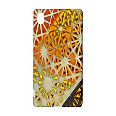 Abstract Starburst Background Wallpaper Of Metal Starburst Decoration With Orange And Yellow Back Sony Xperia Z3+