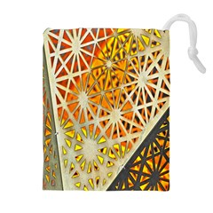 Abstract Starburst Background Wallpaper Of Metal Starburst Decoration With Orange And Yellow Back Drawstring Pouches (extra Large)