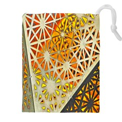 Abstract Starburst Background Wallpaper Of Metal Starburst Decoration With Orange And Yellow Back Drawstring Pouches (xxl)