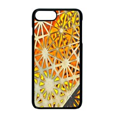 Abstract Starburst Background Wallpaper Of Metal Starburst Decoration With Orange And Yellow Back Apple iPhone 7 Plus Seamless Case (Black)