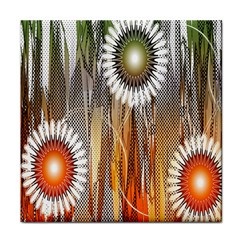 Floral Abstract Pattern Background Tile Coasters