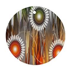 Floral Abstract Pattern Background Ornament (round)