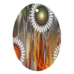 Floral Abstract Pattern Background Ornament (Oval)