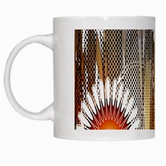 Floral Abstract Pattern Background White Mugs