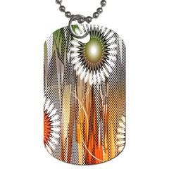 Floral Abstract Pattern Background Dog Tag (Two Sides)