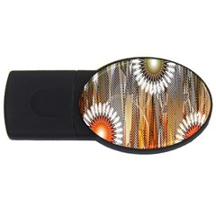 Floral Abstract Pattern Background USB Flash Drive Oval (2 GB)
