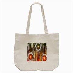 Floral Abstract Pattern Background Tote Bag (Cream)