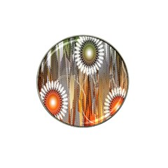 Floral Abstract Pattern Background Hat Clip Ball Marker