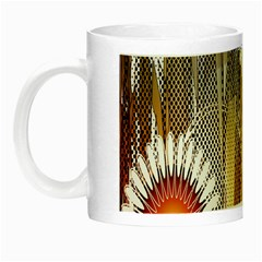 Floral Abstract Pattern Background Night Luminous Mugs