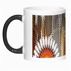 Floral Abstract Pattern Background Morph Mugs