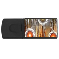 Floral Abstract Pattern Background Usb Flash Drive Rectangular (4 Gb)