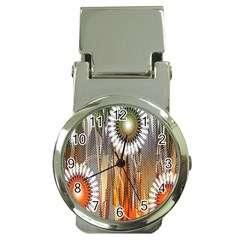 Floral Abstract Pattern Background Money Clip Watches
