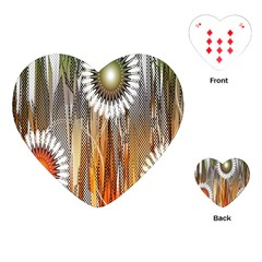 Floral Abstract Pattern Background Playing Cards (Heart)