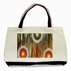 Floral Abstract Pattern Background Basic Tote Bag