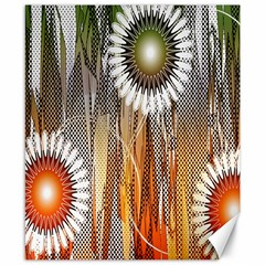 Floral Abstract Pattern Background Canvas 8  x 10