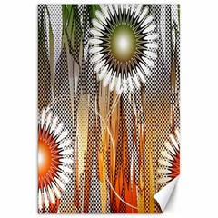 Floral Abstract Pattern Background Canvas 20  x 30