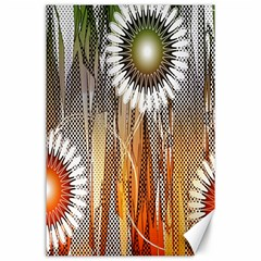 Floral Abstract Pattern Background Canvas 24  x 36