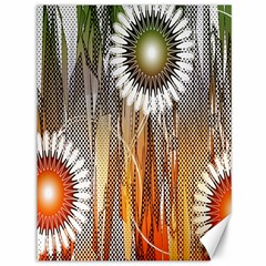Floral Abstract Pattern Background Canvas 36  x 48