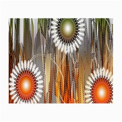 Floral Abstract Pattern Background Small Glasses Cloth (2-Side)