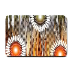Floral Abstract Pattern Background Small Doormat