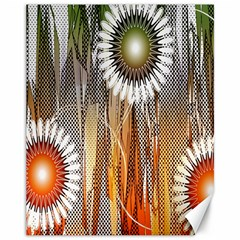 Floral Abstract Pattern Background Canvas 11  X 14