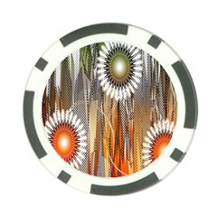Floral Abstract Pattern Background Poker Chip Card Guard
