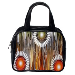 Floral Abstract Pattern Background Classic Handbags (One Side)