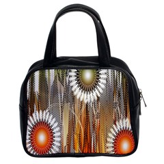 Floral Abstract Pattern Background Classic Handbags (2 Sides)