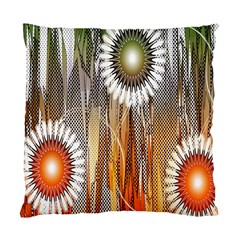Floral Abstract Pattern Background Standard Cushion Case (One Side)