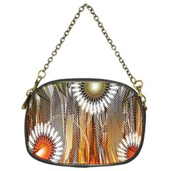 Floral Abstract Pattern Background Chain Purses (Two Sides)