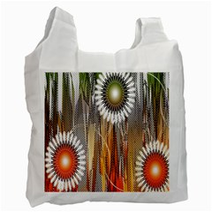 Floral Abstract Pattern Background Recycle Bag (Two Side)