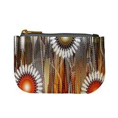 Floral Abstract Pattern Background Mini Coin Purses