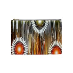 Floral Abstract Pattern Background Cosmetic Bag (medium)