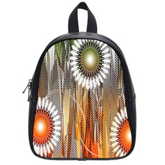 Floral Abstract Pattern Background School Bags (Small)