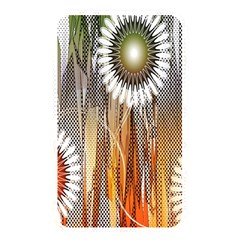 Floral Abstract Pattern Background Memory Card Reader