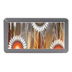 Floral Abstract Pattern Background Memory Card Reader (mini)