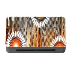 Floral Abstract Pattern Background Memory Card Reader With Cf