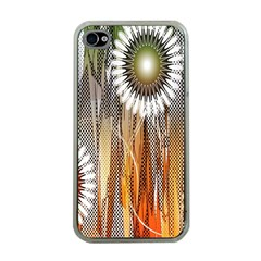 Floral Abstract Pattern Background Apple Iphone 4 Case (clear)